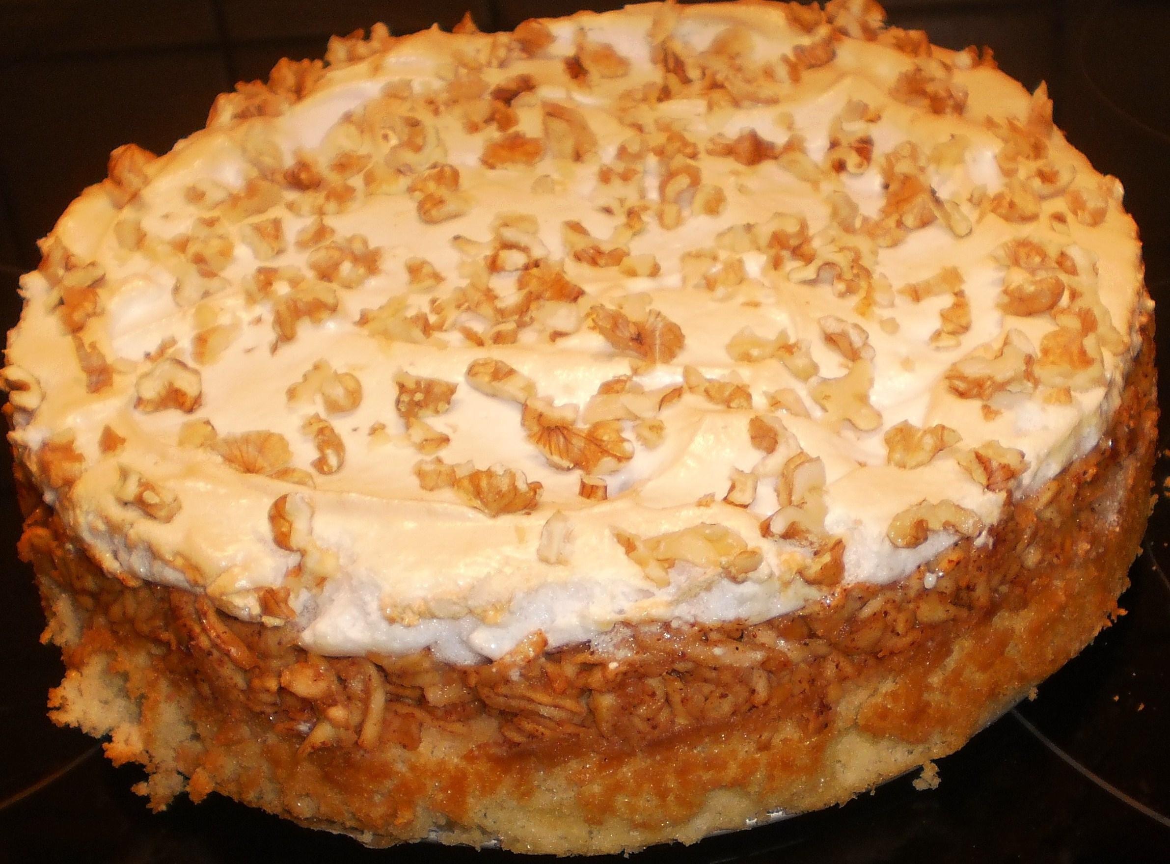 mjuk kaka med valnötter