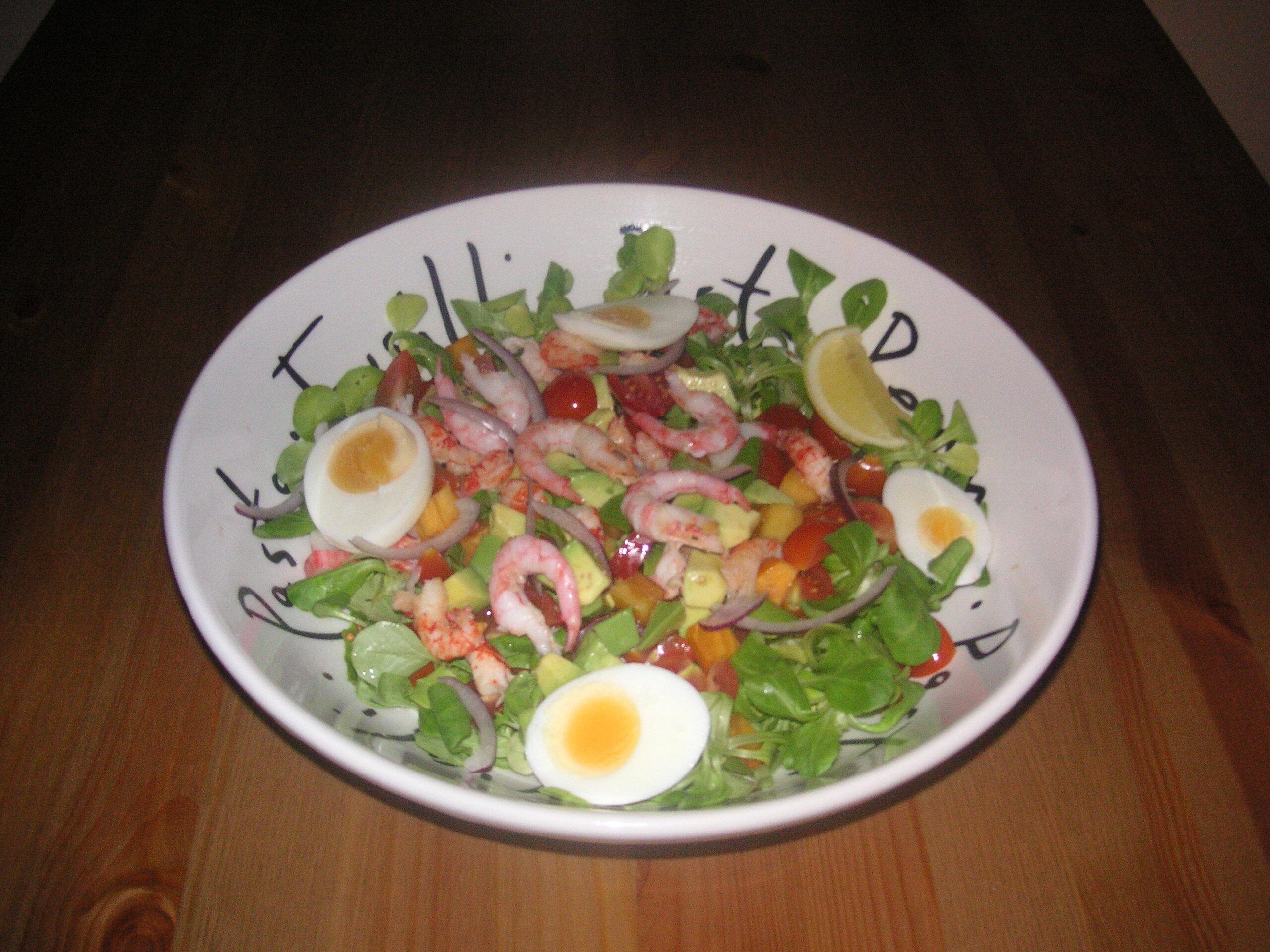 skaldjurssallad ägg