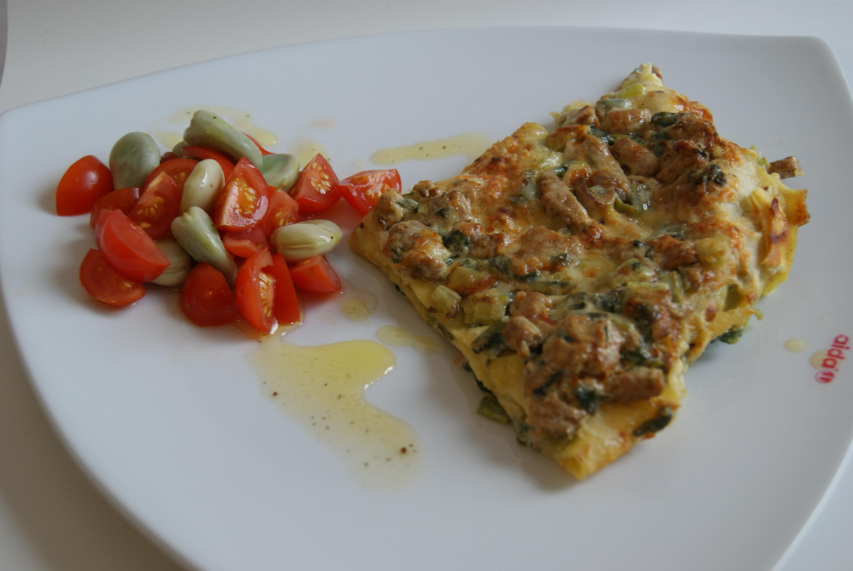 lasagne färskost