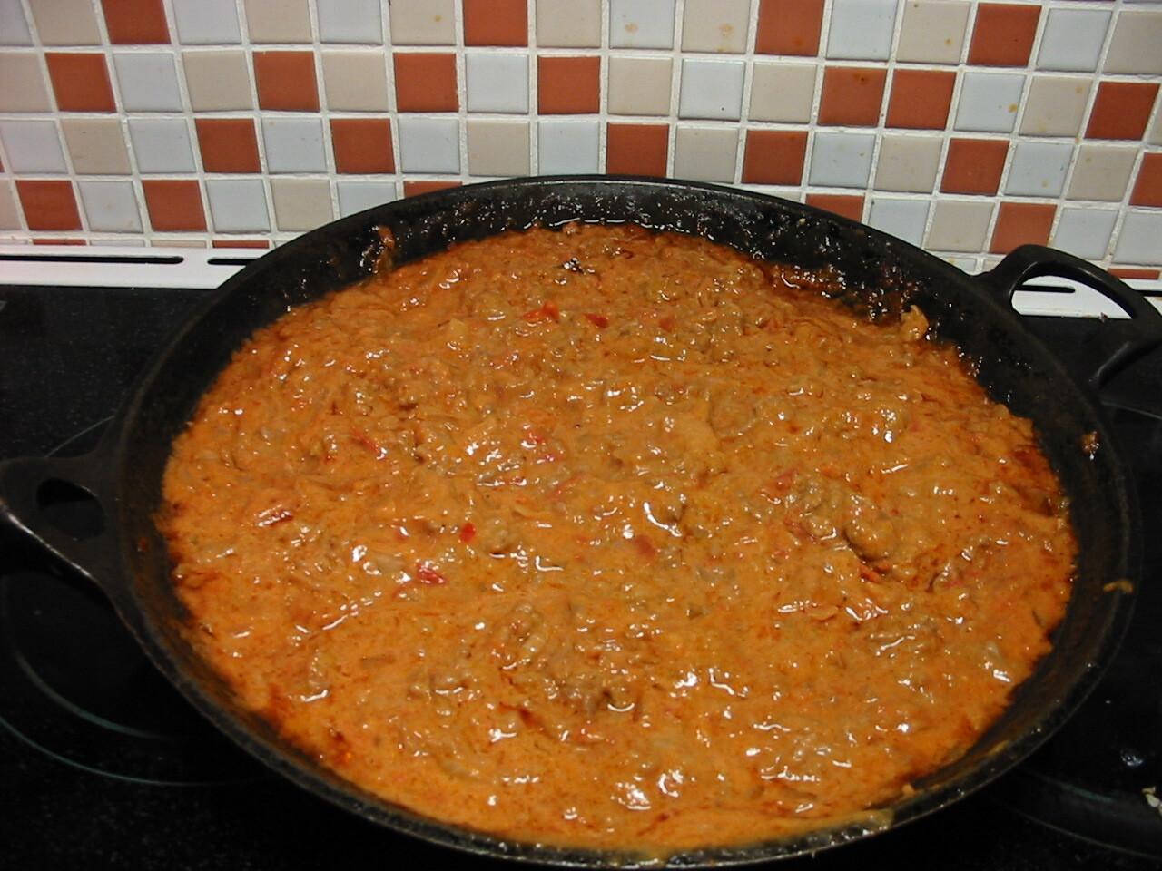fantastisk köttfärssås pasta