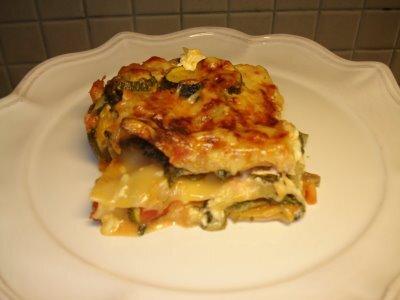 vegetarisk lasagne spenat med creme fraiche