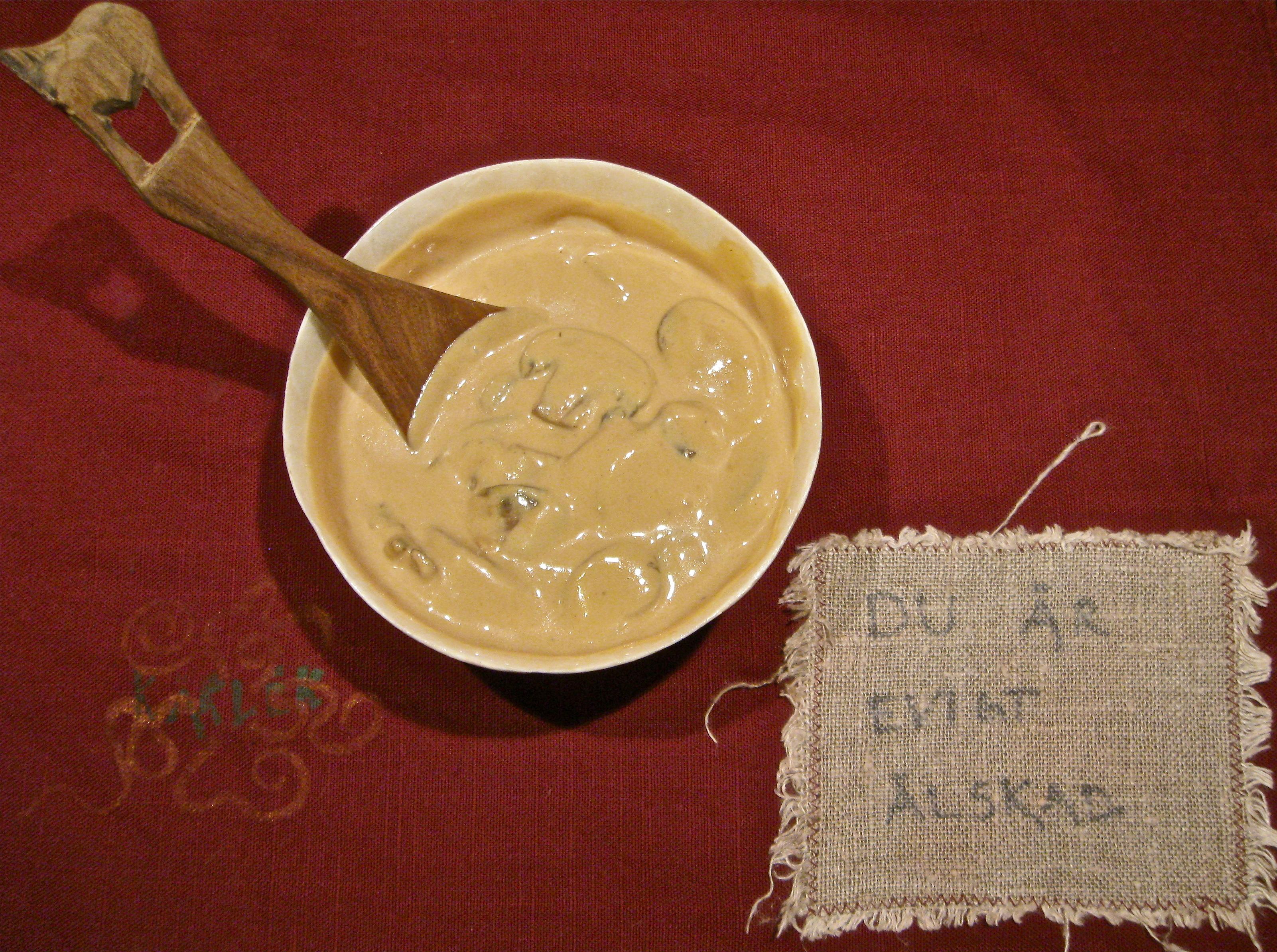 champinjonsås med mjölk