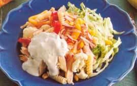 kall kycklingsallad med pasta