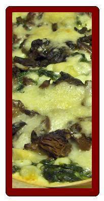 svamp och spenat lasagne