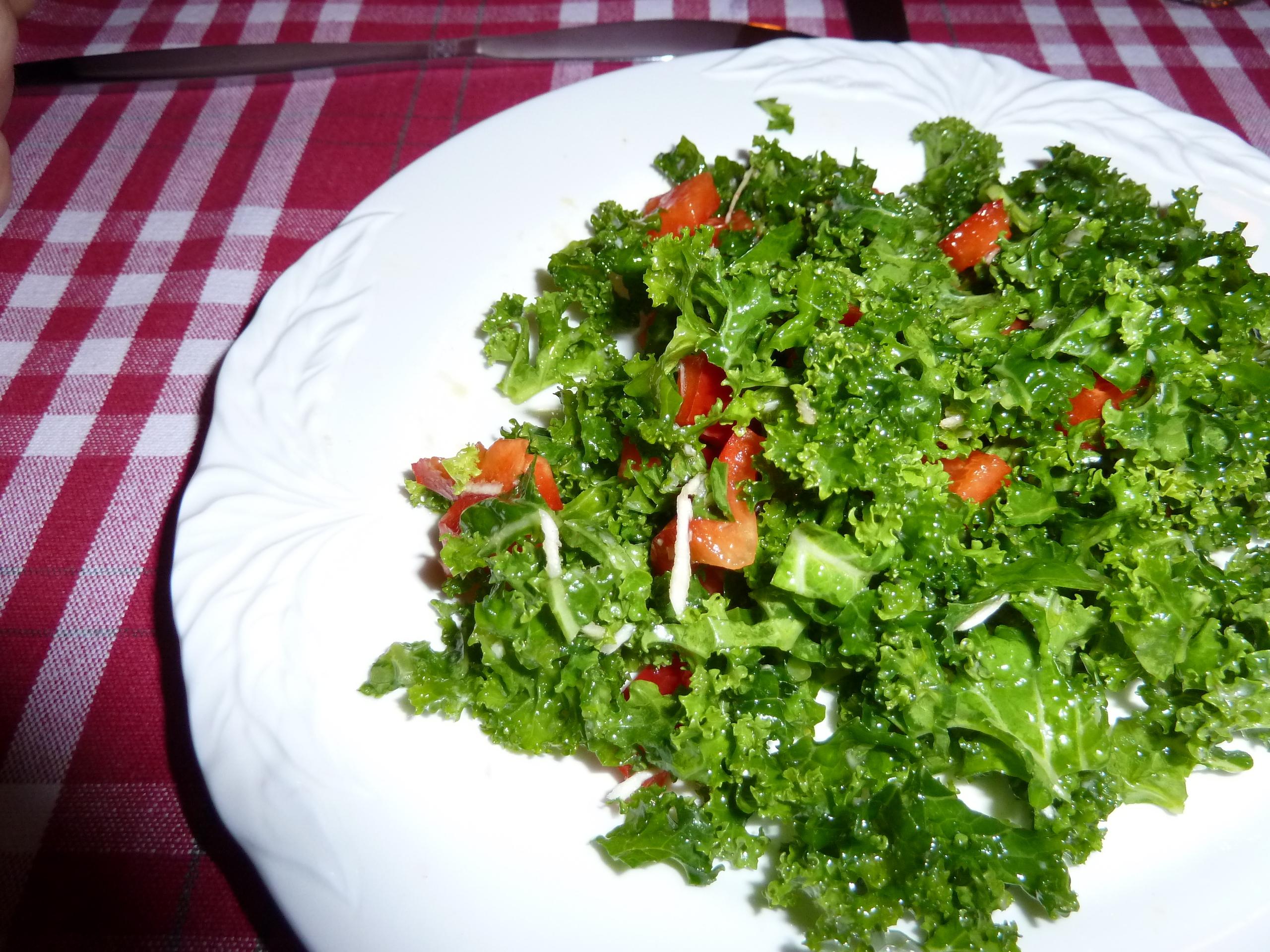 grönkålssallad pepparrot