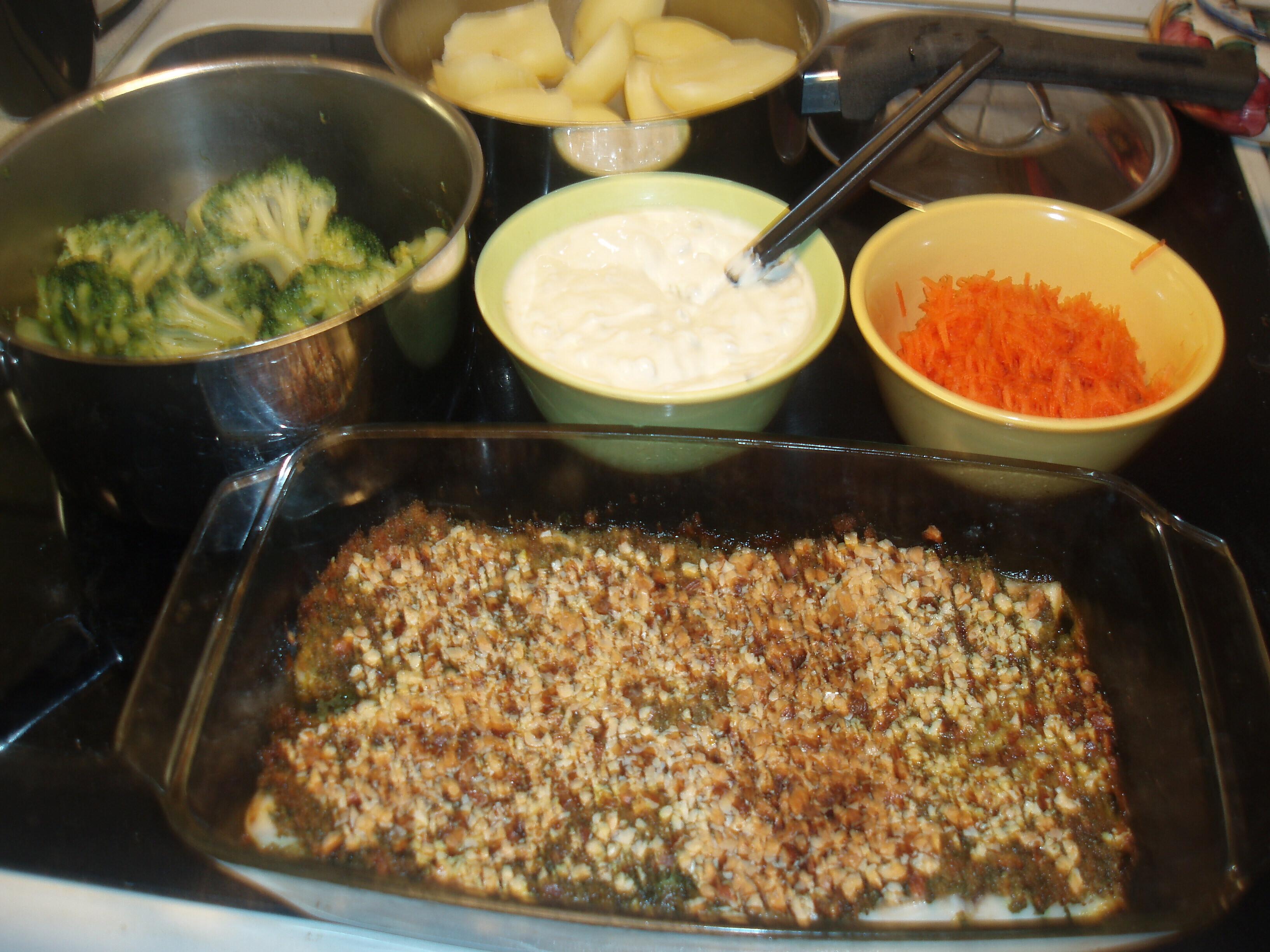gratinerad fiskfilé