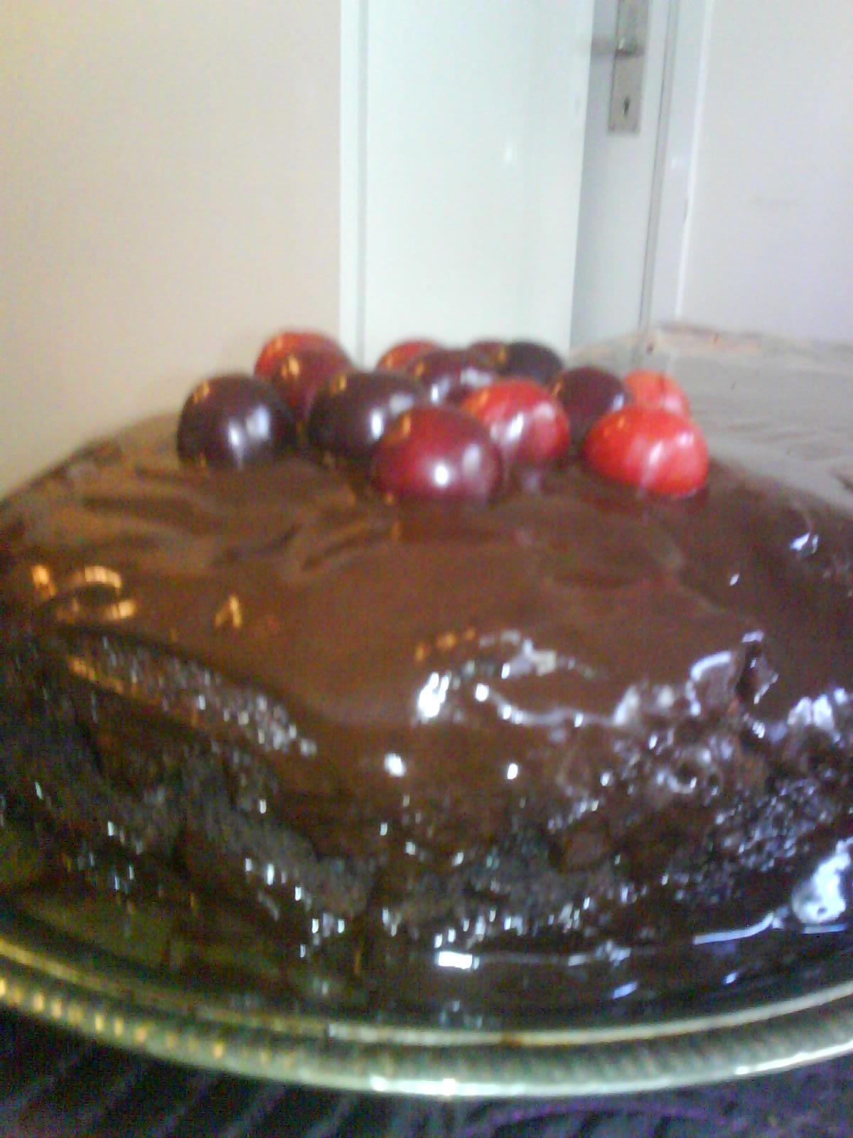 choklad och körsbärs dessert