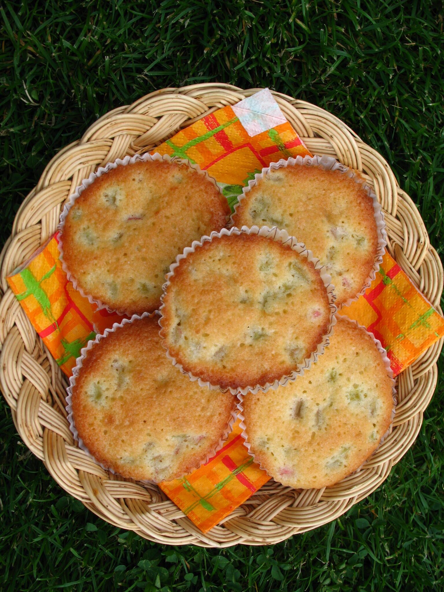somriga rabarbermuffins