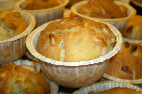 nyttiga rabarbermuffins