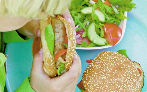 hamburgerbröd majs