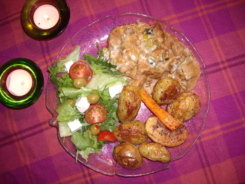kycklingfilé i ugn med gorgonzola