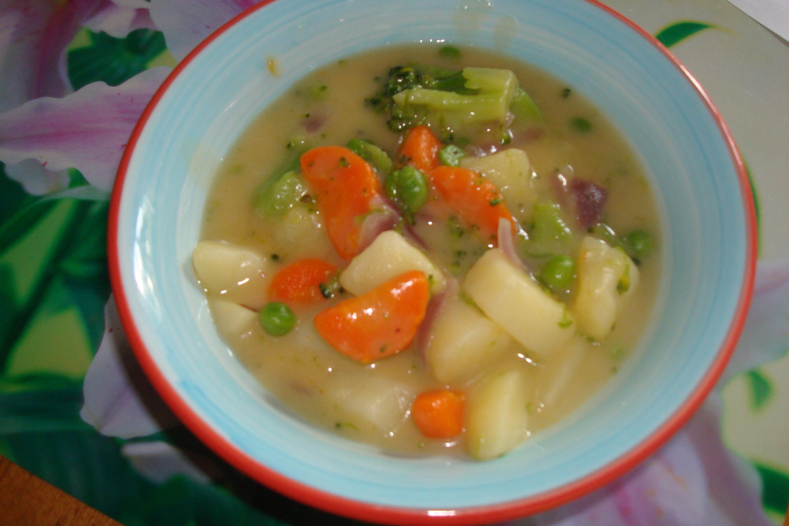 grönsakssoppa med potatis lök morötter