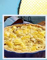 bananpaj med creme fraiche