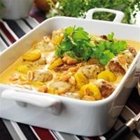 curry köttfärs med ris jordnötter banan