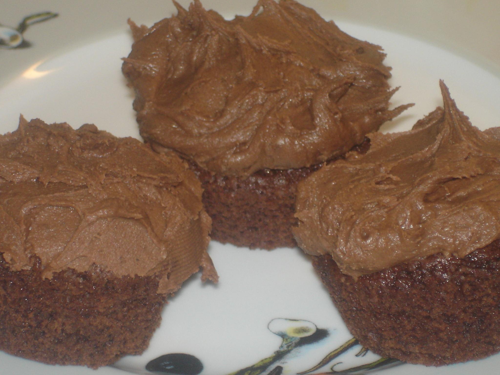 chokladmuffins med philadelphia glasyr