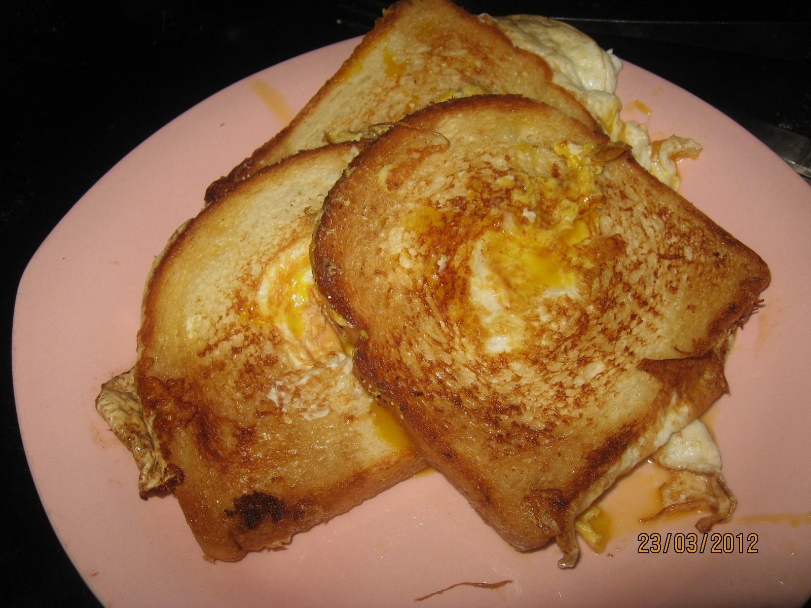 macka med stekt ägg