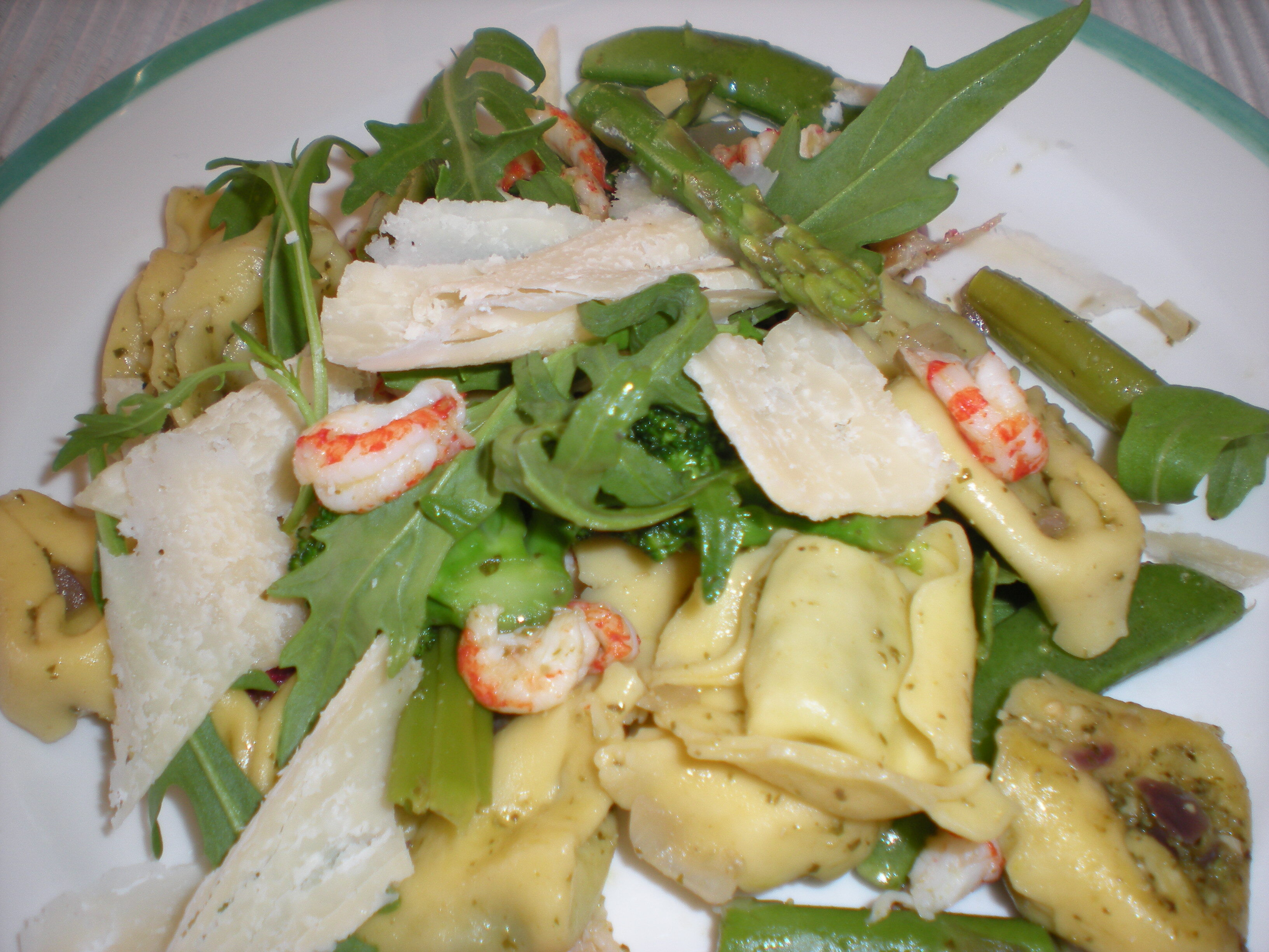 pasta pesto kräftstjärtar