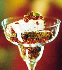lingonparfait spetsad med gin
