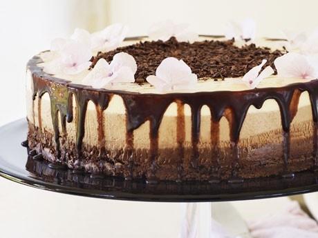 tre sorters choklad tårta