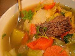 soppa gröna ärtor morötter