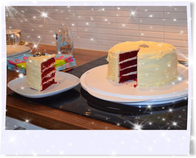 red velvet cake utan ägg