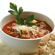 köttfärssoppa med potatis och purjolök