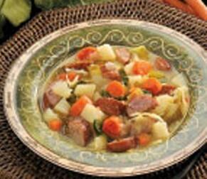kålsoppa med korv