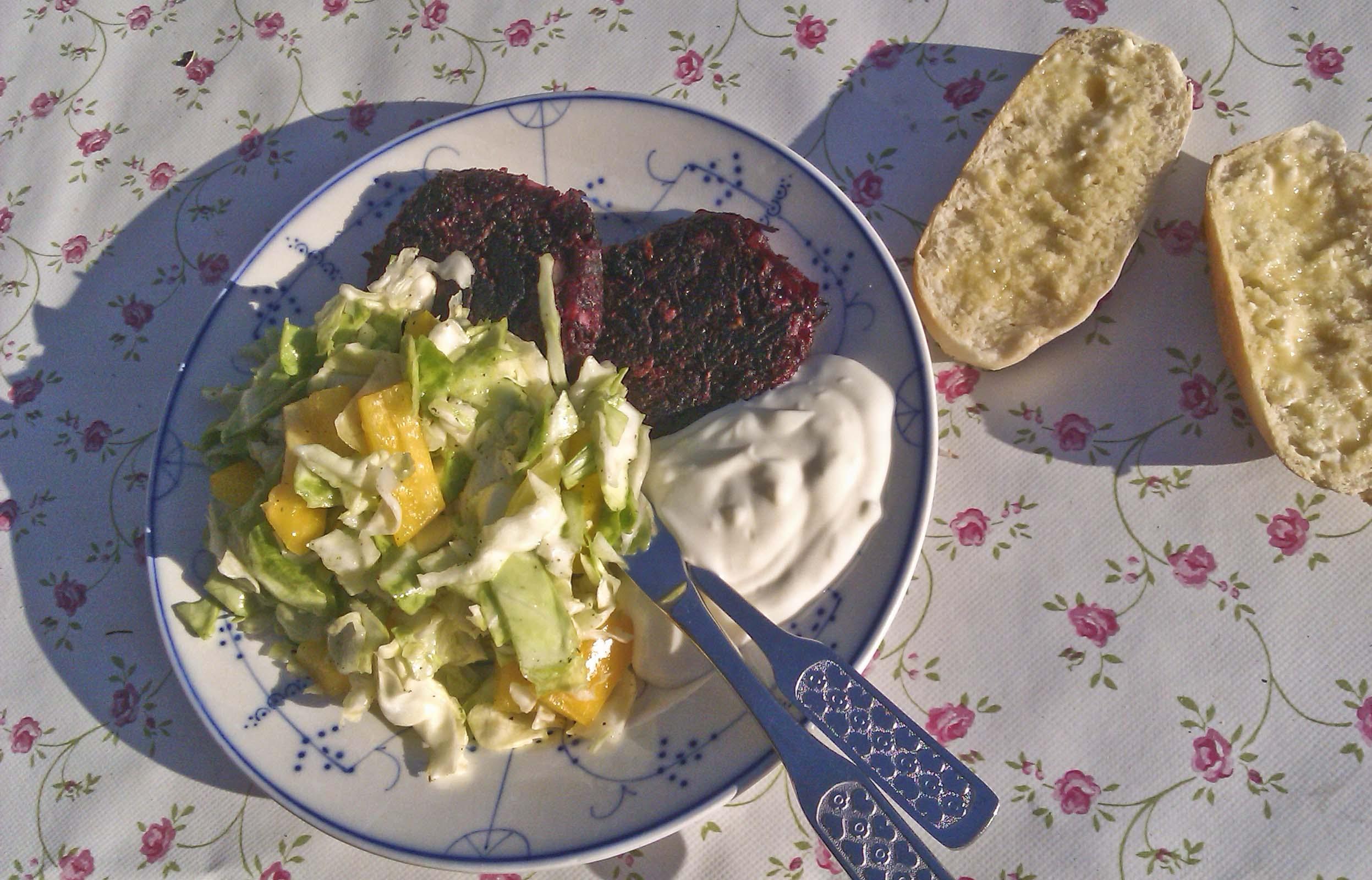 vitlökssås med turkisk yoghurt