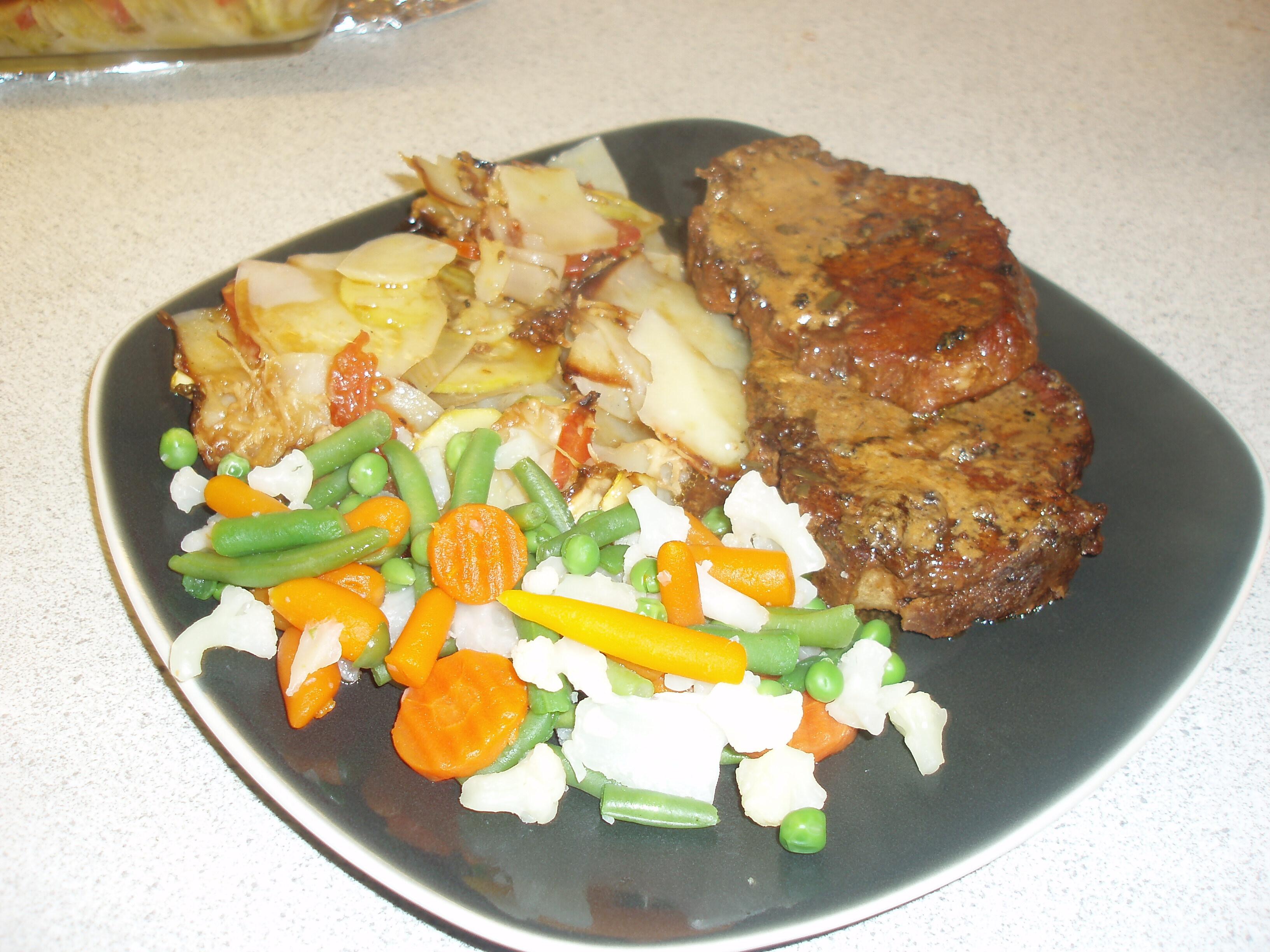 zucchini och potatisgratäng