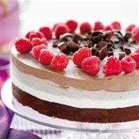 mandelmassa tårta choklad