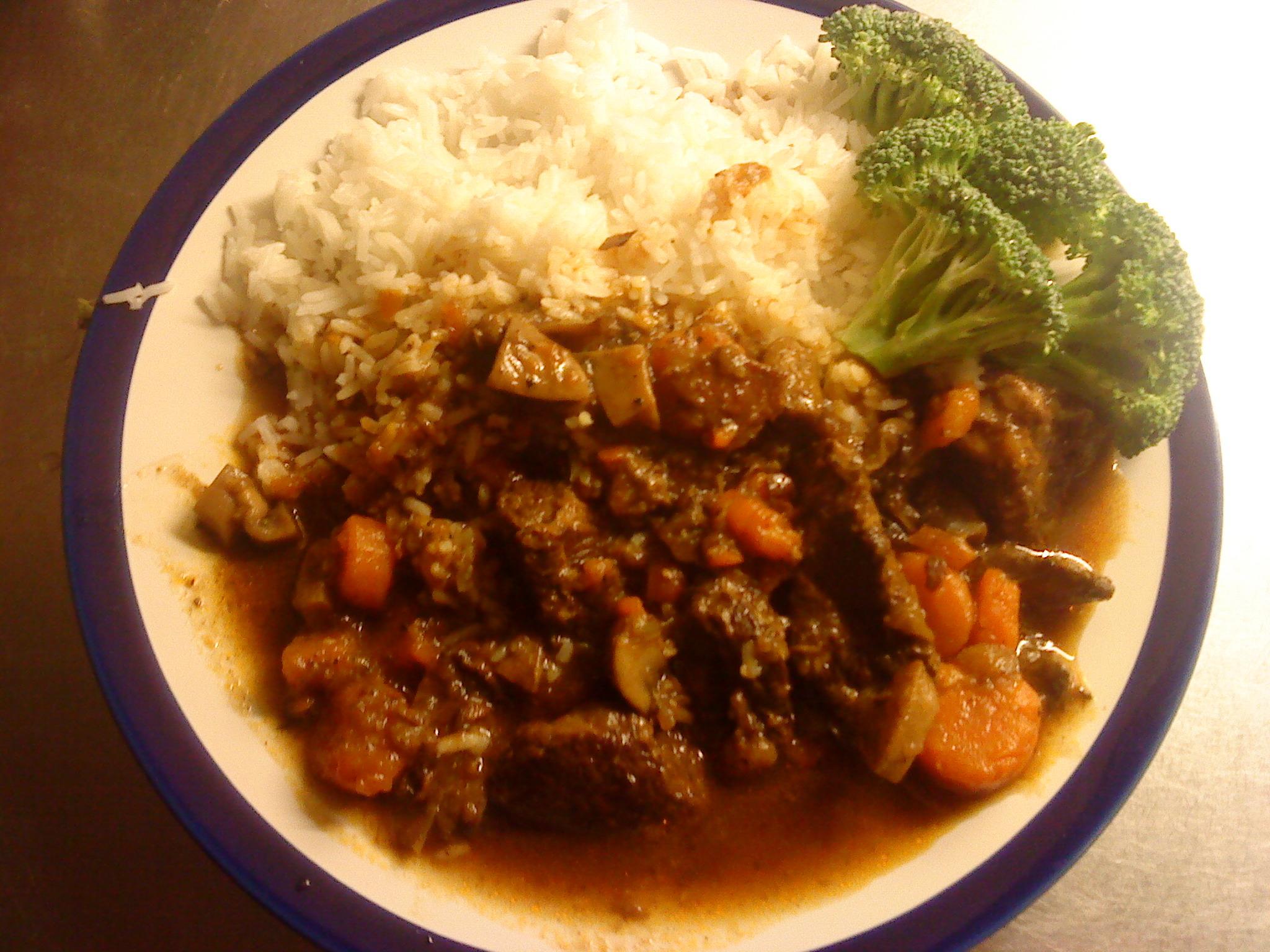 god köttgryta med ris