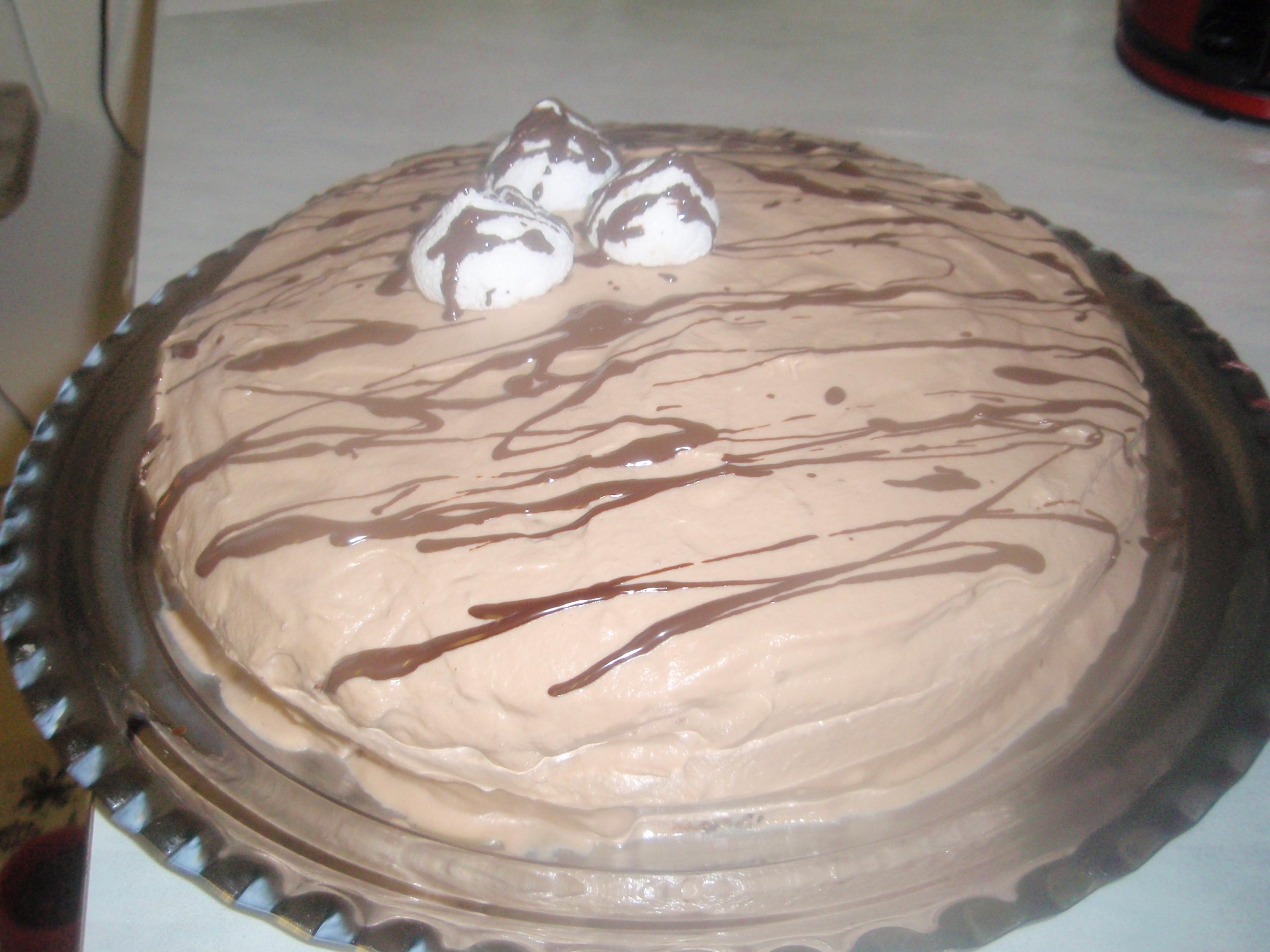 tjock kolasås till tårta