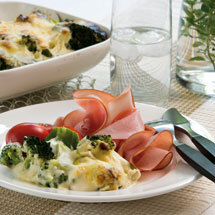 broccoligratäng med skinka