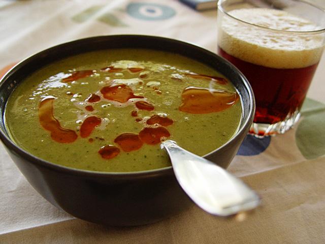 broccoli purjolök soppa