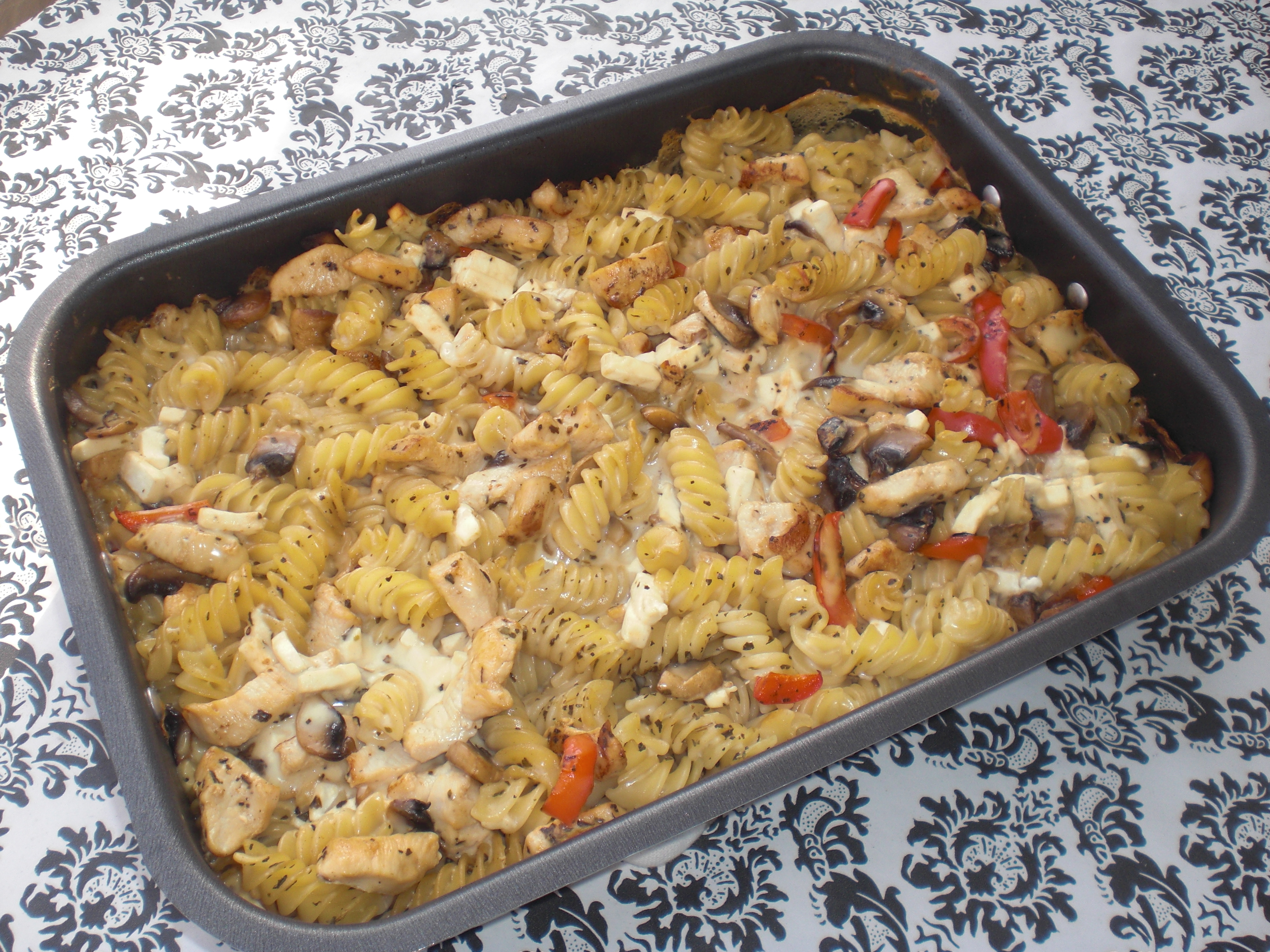 kelda kyckling med pasta