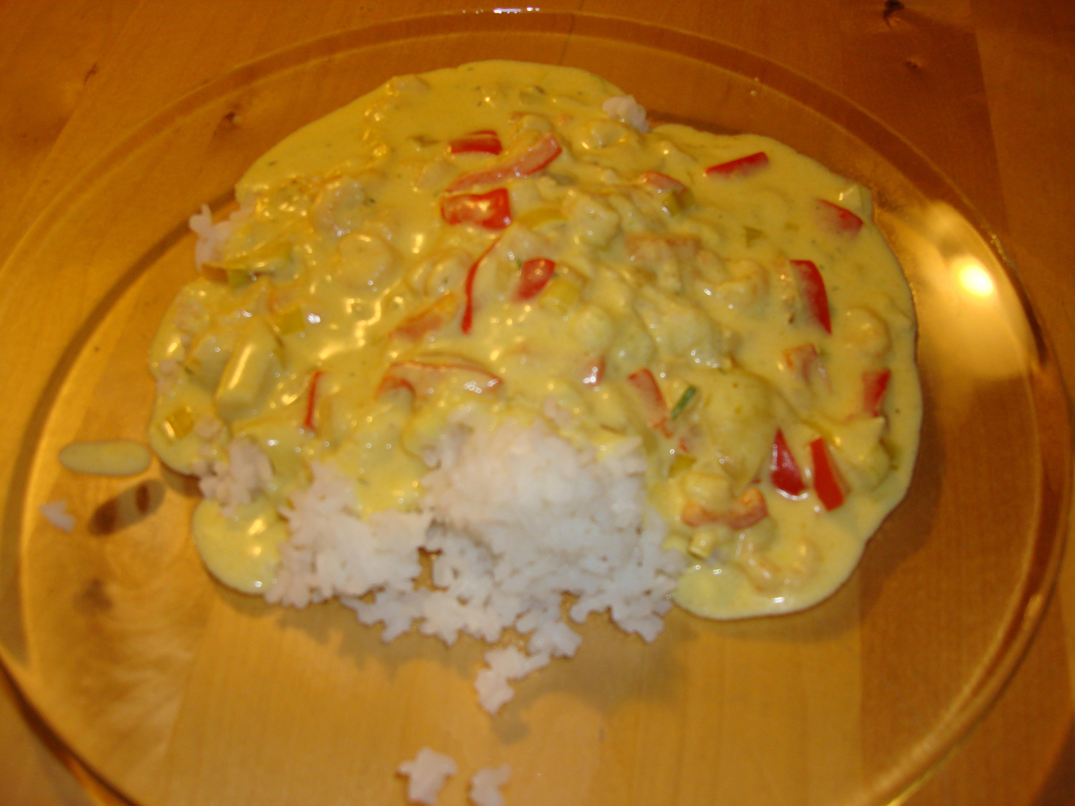 räkgryta med paprika och ris