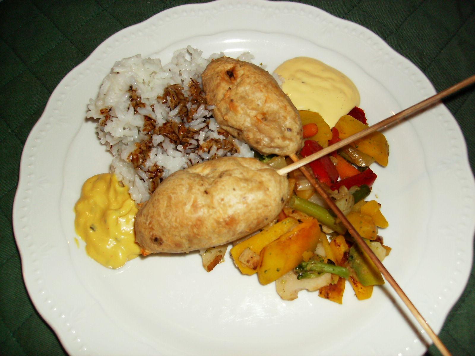 kycklingkebab med ris