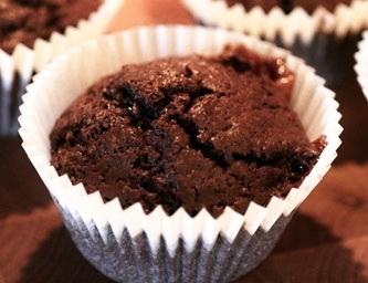 mjölkfria chokladmuffins