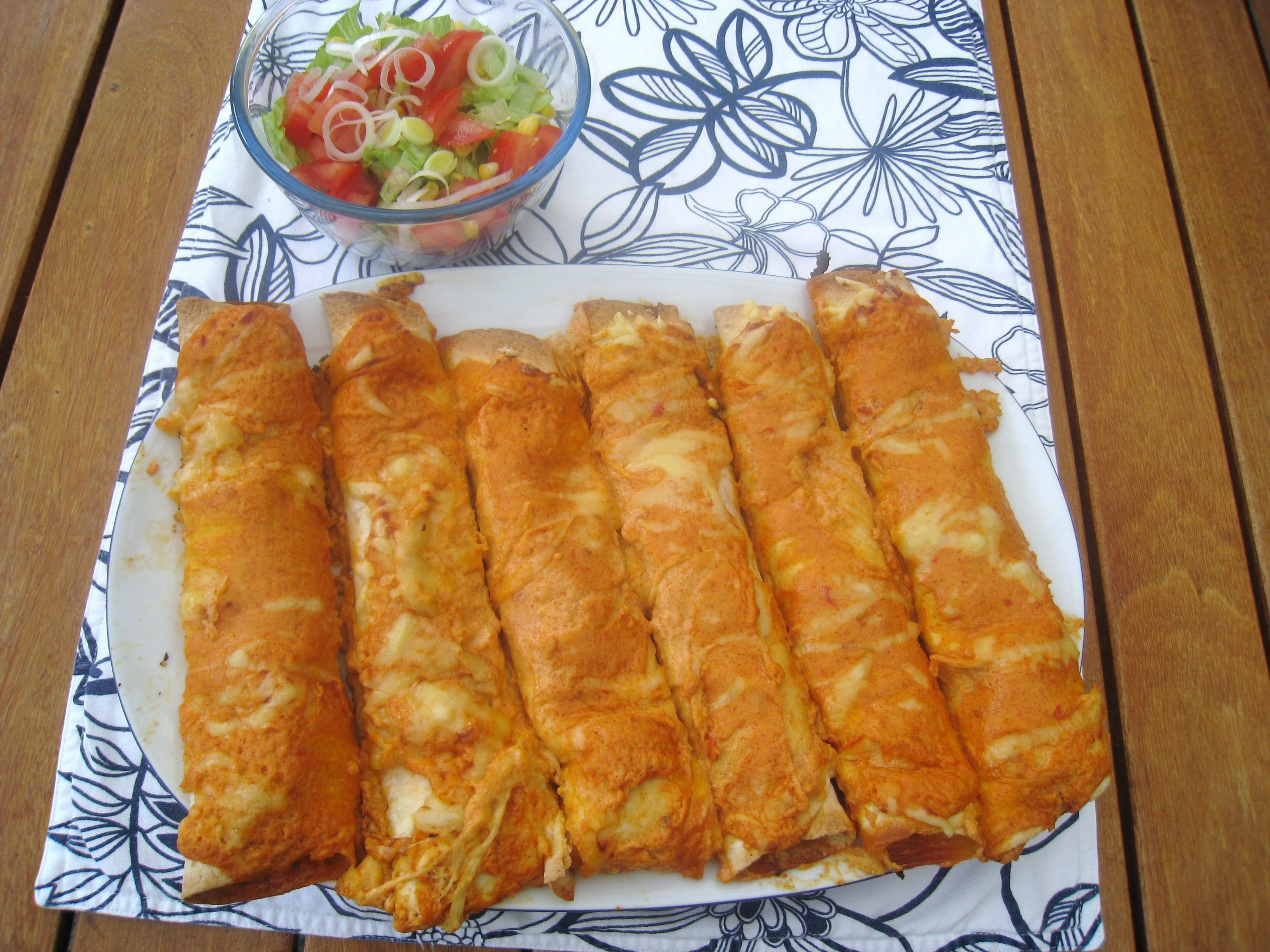 creme fraiche paprika och chili köttfärs tortilla