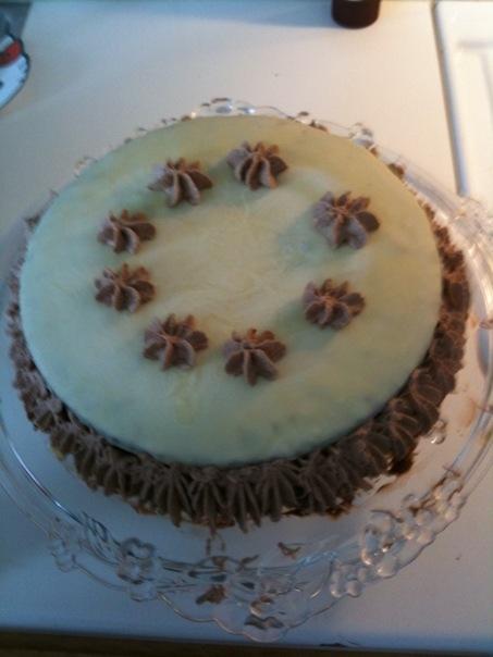 chokladtäcke på tårta