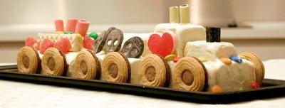 tågtårta med godis
