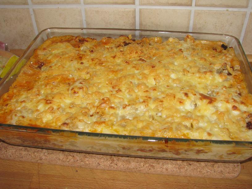 lasagne med makaroner