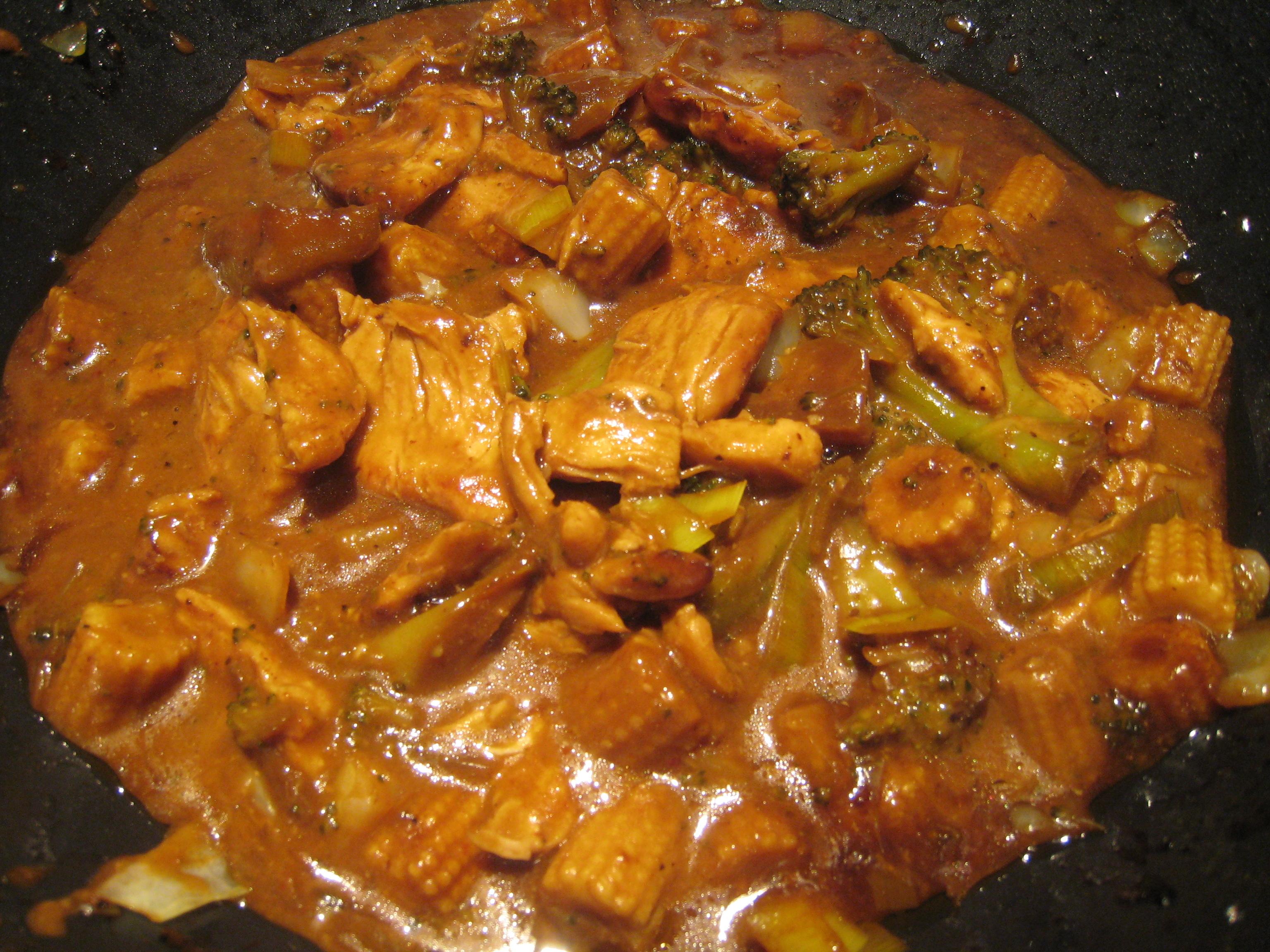 teriyaki wokade grönsaker