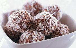 kokos bollar utan havregryn