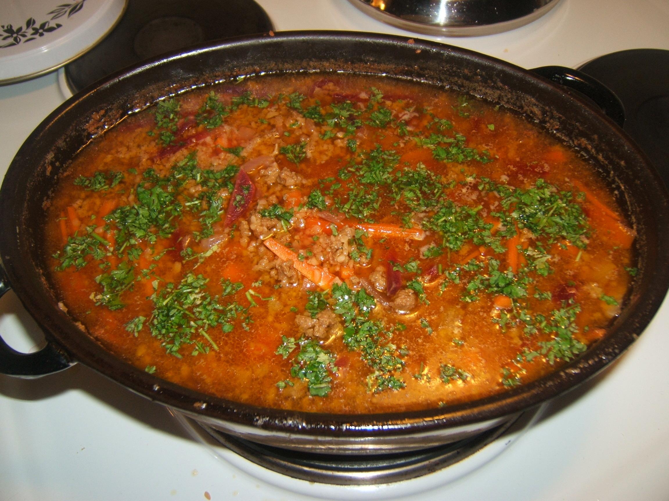 höstsoppa med köttfärs