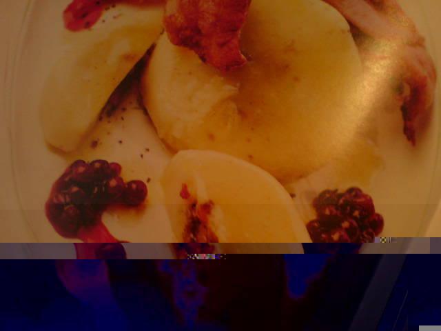 stekt fläsk och potatismos