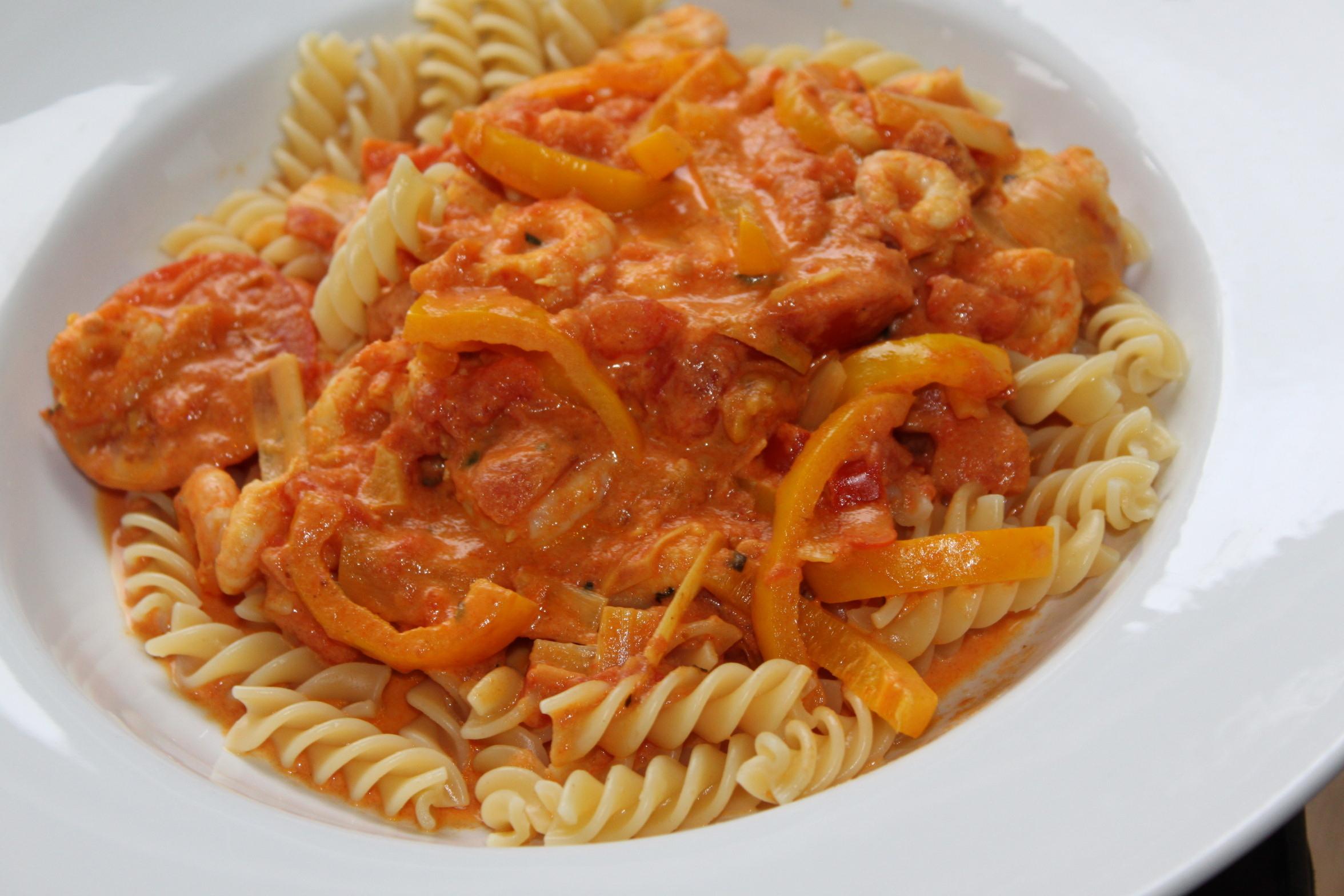 enkel pastasås med räkor
