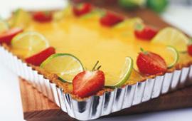 cheesecake kesella jordgubb lime