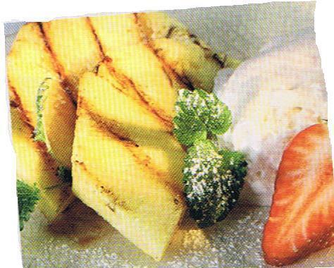 grillad ananas med kanel