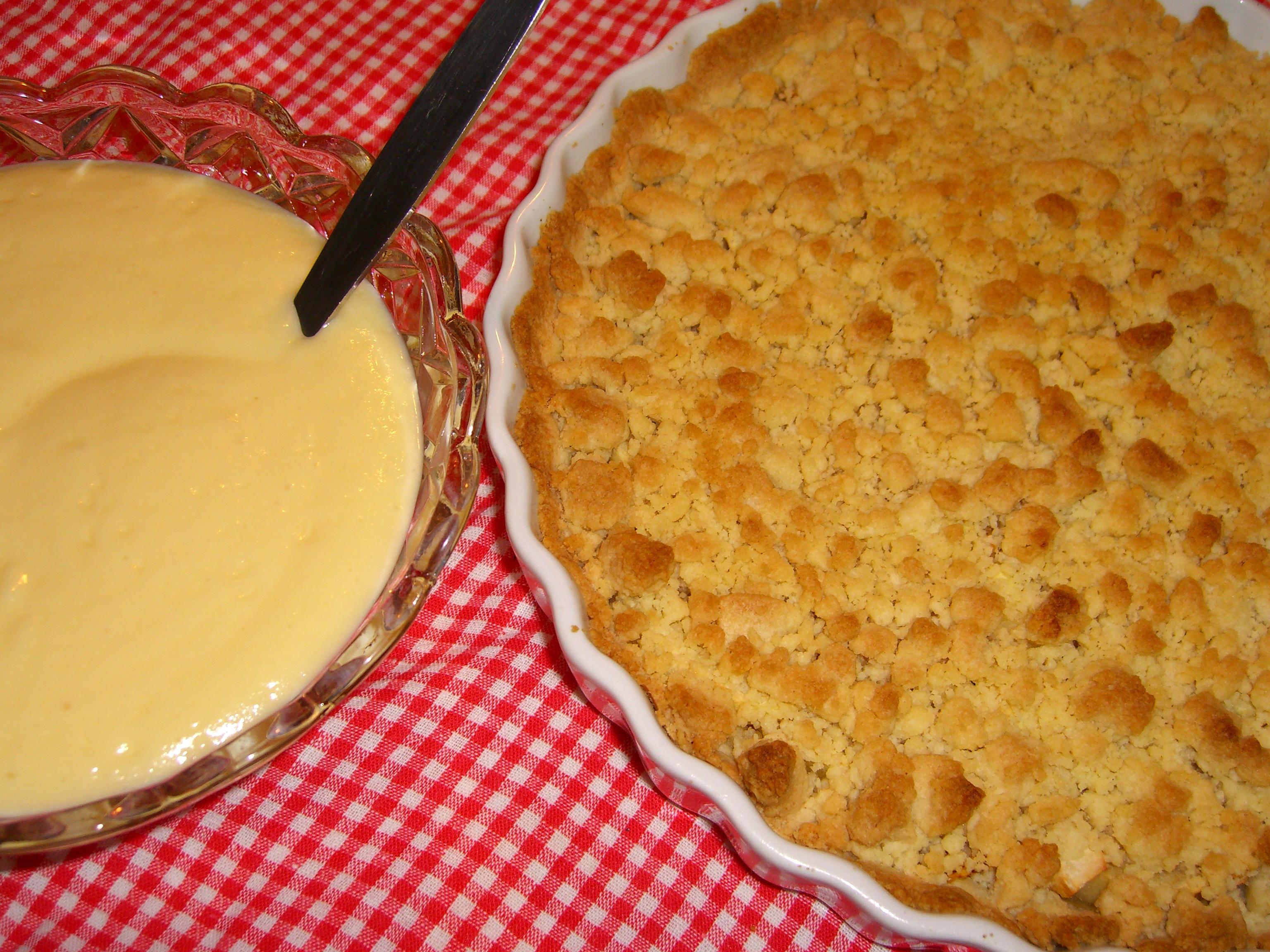 enkel äppelkaka i pajform